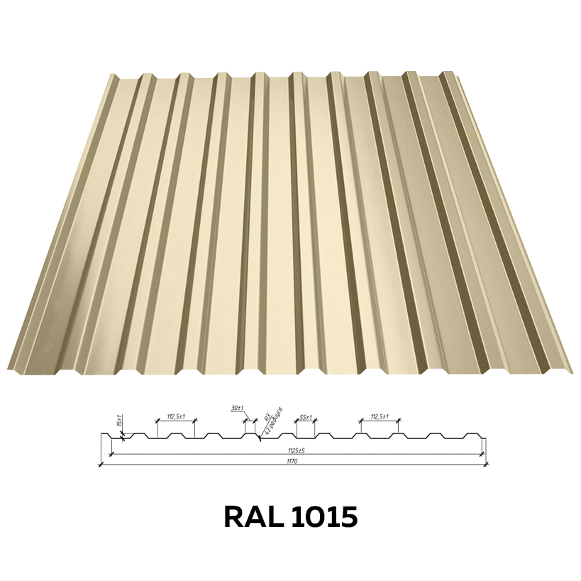 Стеновой профнастил RFS-15 (глянцевый)