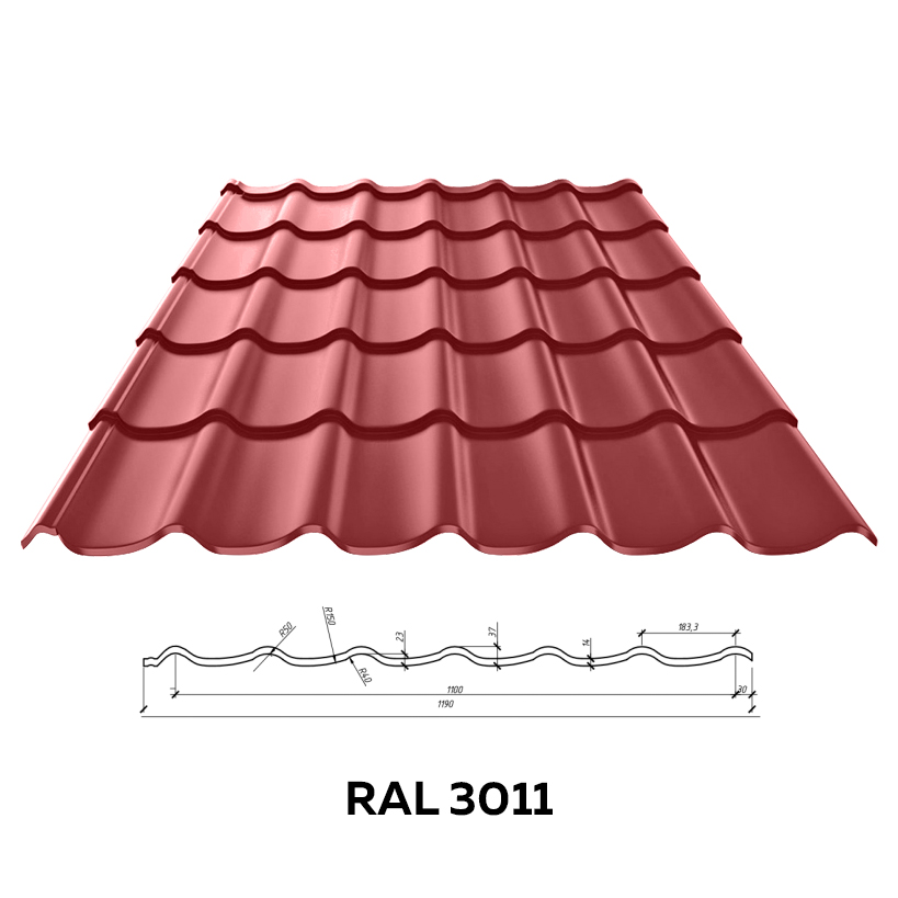 Металлочерепица Roofina (глянцевая)