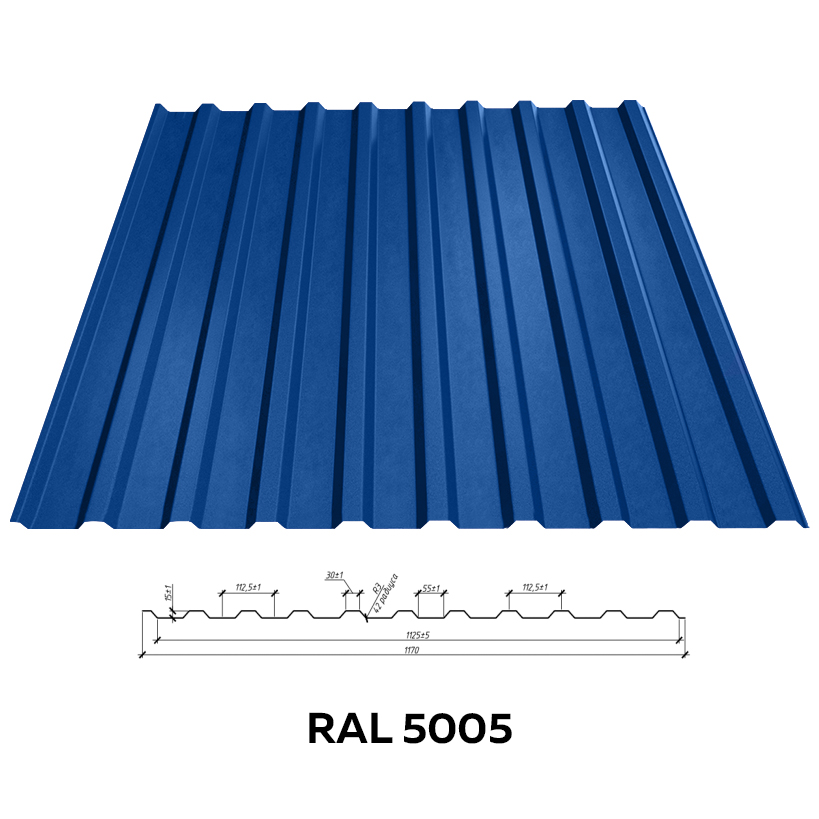 Стеновой профнастил RFS-15 (матовый)