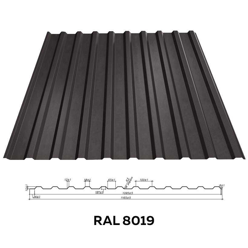 Стеновой профнастил RFS-10 (матовый)