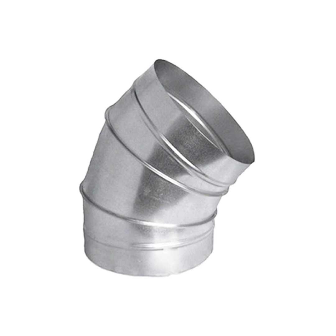 Отвод вентиляционный оцинкованный гофрированный 45⁰, Ø150мм Rooffix 1/1