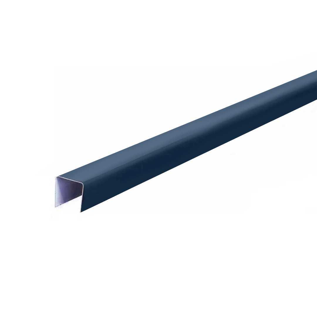 Планка П-образная 18,8*15*18,8мм, 2000мм RAL5002 синяя Rooffix 1/20