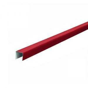 Планка П-образная 18,8*15*18,8мм, 2000мм RAL3005 вишневая Rooffix 1/20