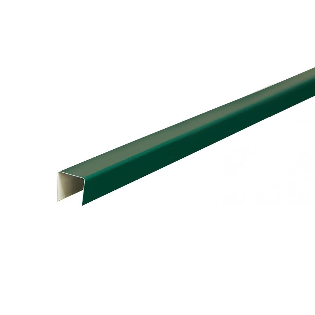 Планка П-образная 19*12*19мм, 2000мм RAL6005 зелёная Rooffix 1/20