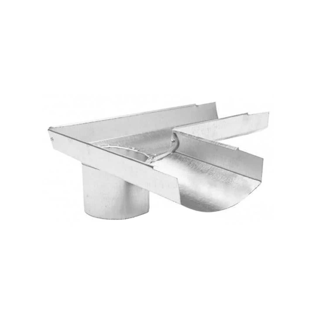 Желоб водосточный оцинкованный полукруглый Ø135мм угловой Rooffix 1/1